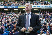 Burnley manager Sean Dyche during the Sky Bet Championship match between Brighton and Hove Albion and Burnley at the American Express Community Stadium, Brighton and Hove, England on 2 April 2016. Photo by Bennett Dean.