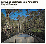 Feature for Atlus Obscura sponsored by Olympus : Driftwood Sculptures from America's Largest Swamp https://www.atlasobscura.com/articles/driftwood-sculptures-from-americas-largest-swamp