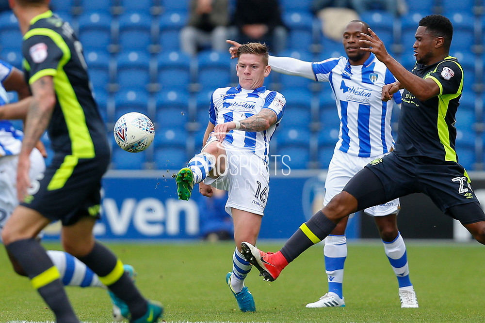 Colchester United's Sean Murray(16)  during the EFL Sky Bet League 2 match between Colchester United and Carlisle United at the Weston Homes Community Stadium, Colchester, England on 14 October 2017. Photo by Phil Chaplin