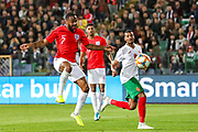 England forward Raheem Sterling on the ball during the UEFA European 2020 Qualifier match between Bulgaria and England at Stadion Vasil Levski, Sofia, Bulgaria on 14 October 2019.