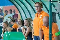 RIO DE JANEIRO -  Zilver voor  Oranje na de finale tussen de dames van Nederland en  Groot-Brittannie (3-3) in het Olympic Hockey Center tijdens de Olympische Spelen in Rio.  GB wint na shoot outs . teamarts Connie van Bentum. COPYRIGHT KOEN SUYK
