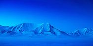 A mountain ridge at Svalbard.