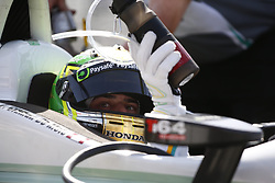 April 13, 2018 - Long Beach, California, United States of America - April 13, 2018 - Long Beach, California, USA: Zachary Claman De Melo (19) sits in his car on pit road during practice for the Toyota Grand Prix of Long Beach at Streets of Long Beach in Long Beach, California. (Credit Image: © Justin R. Noe Asp Inc/ASP via ZUMA Wire)