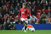 Manchester United's Brandon Williams during the EFL Cup match between Manchester United and Rochdale at Old Trafford, Manchester, England on 25 September 2019.