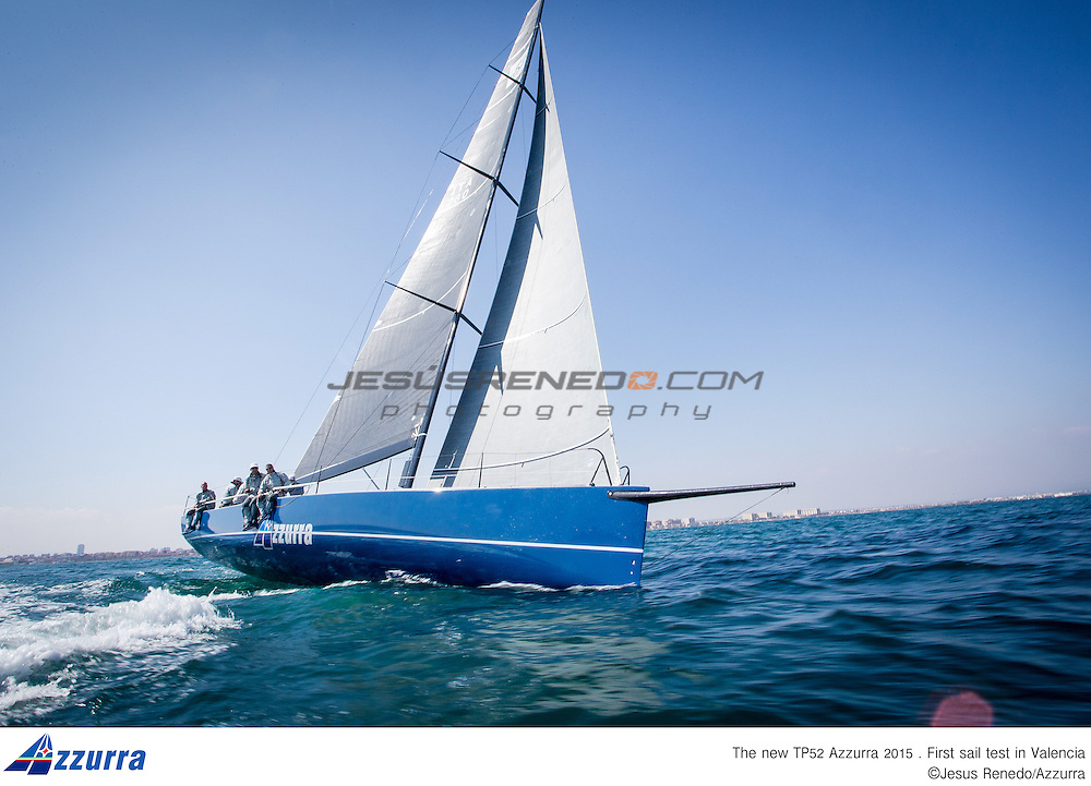 "TP 52 ""Azzurra"" 2015, first sail test in Valencia,Spain,©Jesus renedo/Azzurra"