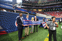 during the Chick-fil-A Kickoff Game at the Mercedes-Benz Stadium, Saturday, August 31, 2019, in Atlanta. (Julie Bennett via Abell Images for Chick-fil-A Kickoff)