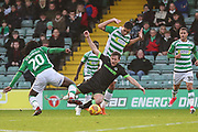 Forest Green Rovers Dayle Grubb(8) is brought down during the EFL Sky Bet League 2 match between Yeovil Town and Forest Green Rovers at Huish Park, Yeovil, England on 8 December 2018.