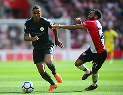Danilo of Manchester City battles for the ball with Nathan Redmond of Southampton - Mandatory by-line: Alex James/JMP - 13/05/2018 - FOOTBALL - St Mary's Stadium - Southampton, England - Southampton v Manchester City - Premier League