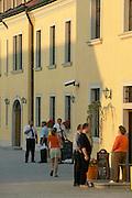 Europe, Slovakia, capitol city - Bratislava.  Bratislava castle..