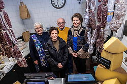Pictured: Jill Clark (Conmage Highland Dairy, Tain), Mairi Gougeon, Callum Clark (Conmage Highland Dairy, Tain) and  Jane Stewart (Chair of Fine Cheesemakers Scotland, <br /> <br /> Rural Affairs Minister Mairi Gougeon, MSP,  announced funding to promote locally sourced food and drink on a visit to an Edinburgh cheesemonger today.<br /> <br /> A total of 21 projects will share £95,550 from the Connect Local Regional Food Fund.<br /> <br /> Ms Gougeon met producers from Fine Cheesemakers of Scotland at I.J. Mellis Cheesemonger in Edinburgh. The group has been awarded funding to develop marketing materials and promote cheese as a pairing to whisky.<br /> <br /> Ger Harley | EEm 20 February 2020