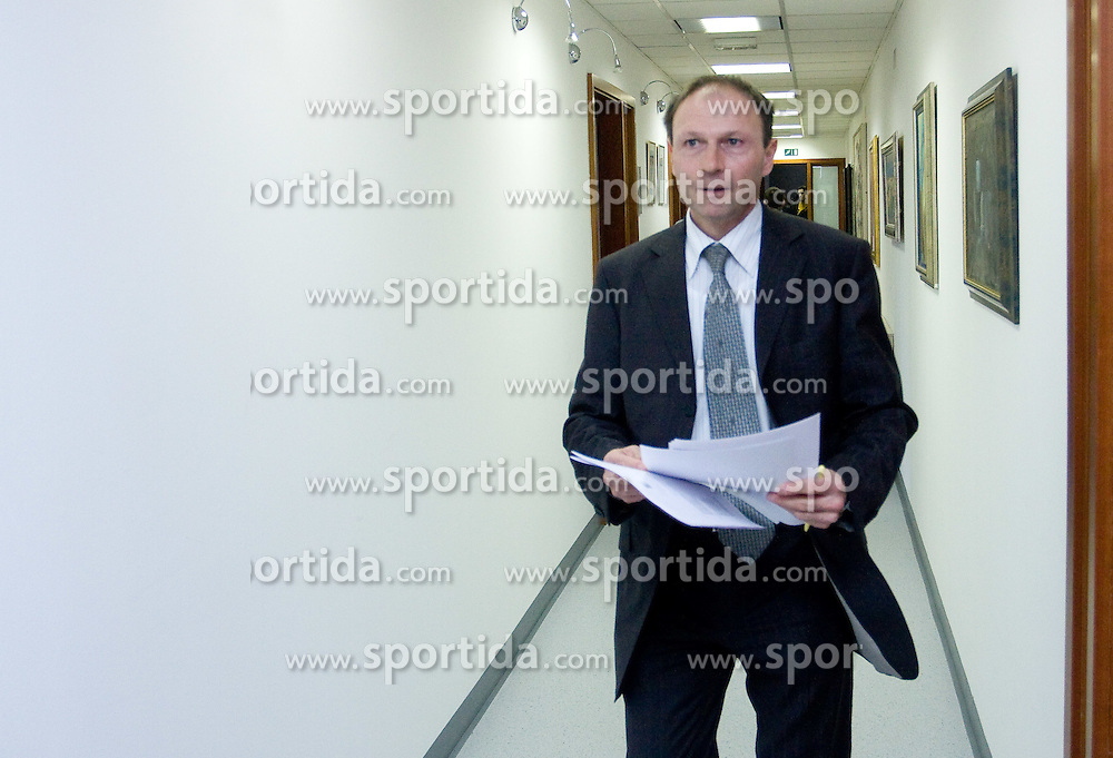 Boris Mikuz when Slovenian athletes and their coaches sign contracts with Athletic federation of Slovenia for year 2009,  in AZS, Ljubljana, Slovenia, on March 2, 2009. (Photo by Vid Ponikvar / Sportida)