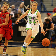 Hannah Huffman, Notre Dame, in action during the Notre Dame Fighting Irish V Louisville Cardinals Semi Final match during the Big East Conference, 2013 Women's Basketball Championships at the XL Center, Hartford, Connecticut, USA. 11th March. Photo Tim Clayton