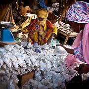 Salt merchant . Gao market. Mali .West Africa.