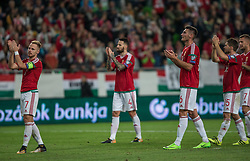 September 3, 2017 - Budapest, Hungary - Team Hungary thanks the support against their fans after the World Cup qualification match between Hungary and Portugal at Groupama Arena on Nov 03, 2017 in Budapest, Hungary. (Credit Image: © Robert Szaniszlo/NurPhoto via ZUMA Press)