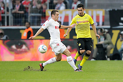 25.03.2012, Rhein Energie Stadion, Koeln, GER, 1. FBL, 1.FC Koeln vs Borussia Dortmund, 27. Spieltag, im Bild Ilkay GUENDOGAN (BVB Borussia Dortmund #21) - Christian CLEMENS (1.FC Koeln #27) // during the German Bundesliga Match, 27th Round between 1.FC Koeln and Borussia Dortmund at the Rhein Energie Stadion, Koeln, Germany on 2012/03/25. EXPA Pictures © 2012, PhotoCredit: EXPA/ Eibner/ Gerry Schmit..***** ATTENTION - OUT OF GER *****