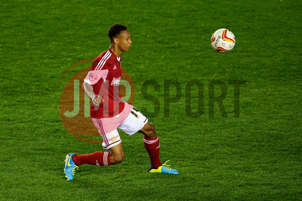 Bristol City Midfielder Bobby Reid (ENG) in action during the second half of the match - Photo mandatory by-line: Rogan Thomson/JMP - Tel: 07966 386802 - 04/09/2013 - SPORT - FOOTBALL - Ashton Gate, Bristol - Bristol City v Bristol Rovers - Johnstone's Paint Trophy - First Round - Bristol Derby