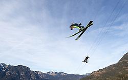 01.01.2014, Olympiaschanze, Garmisch Partenkirchen, GER, FIS Ski Sprung Weltcup, 62. Vierschanzentournee, Probesprung, im Bild Kamil Stoch (POL) // Kamil Stoch (POL) during Trial Jump of 62nd Four Hills Tournament of FIS Ski Jumping World Cup at the Olympiaschanze, Garmisch Partenkirchen, Germany on 2014/01/01. EXPA Pictures © 2014, PhotoCredit: EXPA/ JFK