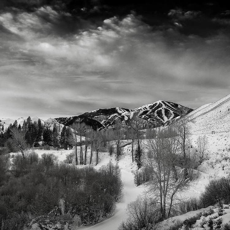 Bald Mountain, from Trail Creek Cabin, Sun Valley Idaho. color available