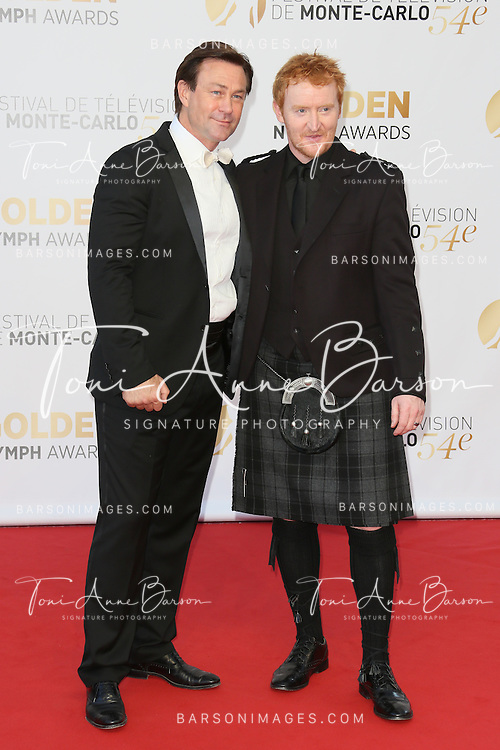 MONTE-CARLO, MONACO - JUNE 11: Tony Curran and Grant Bowler attends the Closing Ceremony and Golden Nymph Awards of the 54th Monte Carlo TV Festival on June 11, 2014 in Monte-Carlo, Monaco.  (Photo by Tony Barson/FilmMagic)