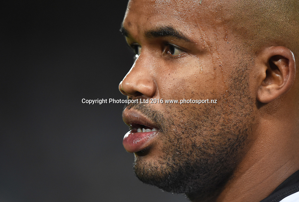 JP Pietersen during the Blues v Sharks Super Rugby match at Eden Park in Auckland, New Zealand. Saturday 16 April 2016. Copyright Photo: Andrew Cornaga / www.Photosport.nz