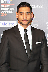 © Licensed to London News Pictures. 08/05/2014, UK. Amir Khan, BT Sport Industry Awards 2014, Battersea Evolution, London UK, 08 May 2014. Photo credit : Brett D. Cove/Piqtured/LNP
