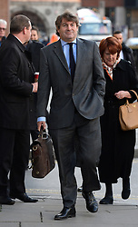 Rebekah Brooks' husband Charlie Brooks arriving during the third week of the phone hacking trial at the Old Bailey in London, United Kingdom. Thursday, 14th November 2013. Picture by Ben Stevens / i-Images