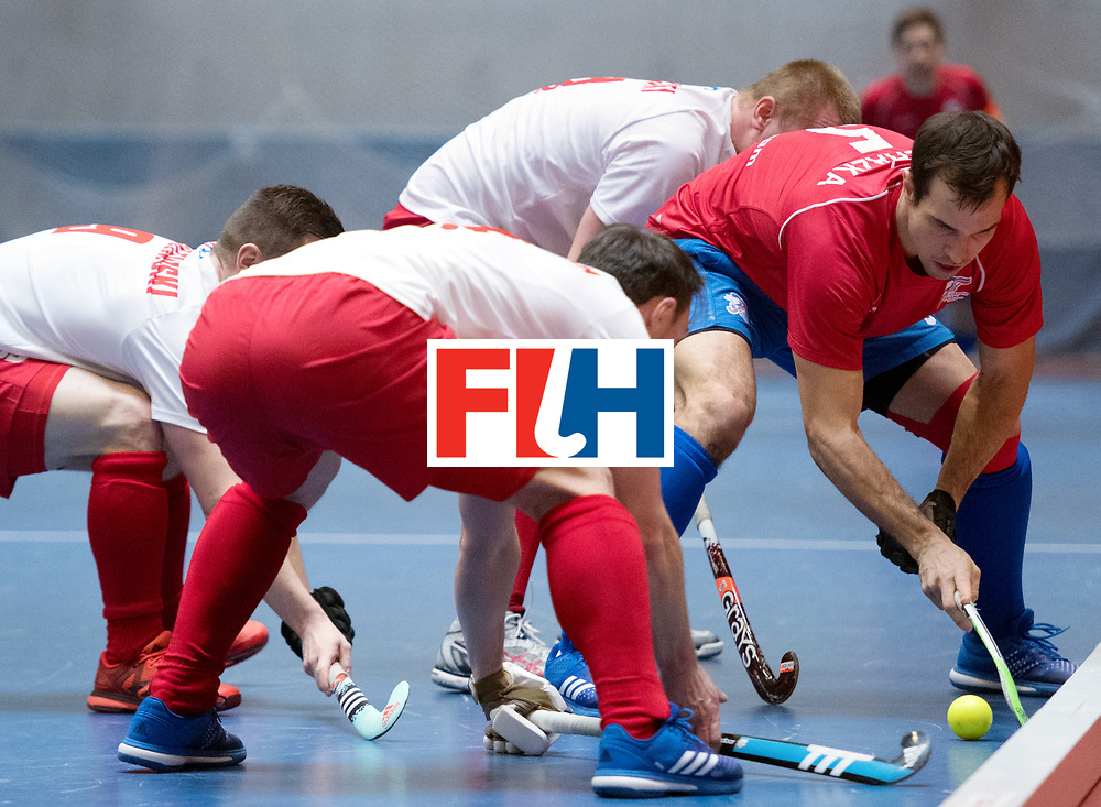 BERLIN - Indoor Hockey World Cup<br /> Czech Republic - Poland<br /> foto: Tomas Proch&aacute;zka <br /> WORLDSPORTPICS COPYRIGHT FRANK UIJLENBROEK