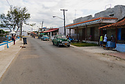 HAVANA, CUBA - OCTOBER 22, 2006: View to the street of the town of Cojimar, Cuba. Cojimar was the inspiration for Ernest Hemingway's The Old Man and the Sea.