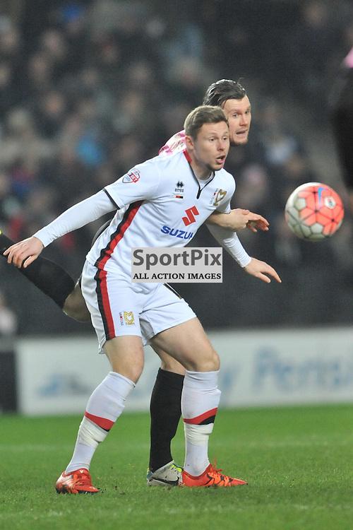 SIMON CHURCH MK DONS, MK Dons v Northampton Town, FA Cup Emirates FA Cup Third round Repay, Stadium MK, Tuesday 19th January 2016