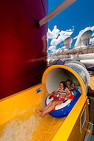 AquaDuck water coaster, Disney Dream cruise ship, sailing between Florida and the Bahamas
