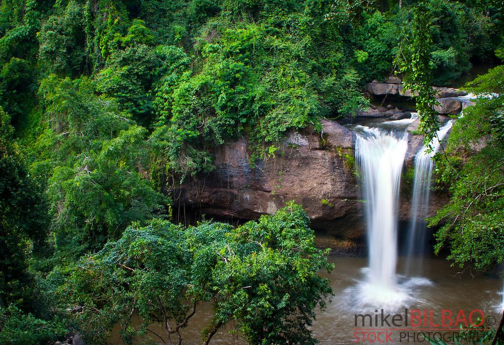 Haew Suwat waterfall. Khao Yai National Park. Thailand.