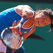 Dinara Safina, Russia in action against Dominika Cibulkova, Slovakia, in the Women's Semi-Final Final match at the French Open Tennis Tournament at Roland Garros, Paris, France on Thursday, June 4, 2009. Photo Tim Clayton.