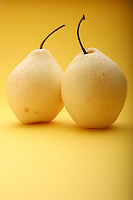 Two white pears - studio shot