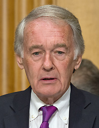 June 13, 2017 - Washington, District of Columbia, United States of America - United States Senator Edward Markey (Democrat of Massachusetts) questions US Secretary of State Rex Tillerson as he gives testimony before the US Senate Committee on Foreign Relations to ''Review of the FY 2018 State Department Budget Request'' on Capitol Hill in Washington, DC on Tuesday, June 13, 2017..Credit: Ron Sachs / CNP (Credit Image: © Ron Sachs/CNP via ZUMA Wire)