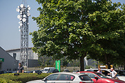 Mast, Slough. 28 June 2018<br /> I asked a lady at Europcar what it was and she said 'I haven't a clue' but general opinion next door was that it was a mobile phone mast but no one knew for sure.