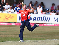 July 1, 2018 - London, Greater London, United Kingdom - Katie George of England Women.during International Twenty20 Final match between England Women and New Zealand Women  at The Cloudfm County Ground, Chelmsford, England on 01 July 2018. (Credit Image: © Kieran Galvin/NurPhoto via ZUMA Press)