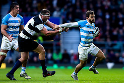 Ramiro Moyano of Argentina is tackled - Mandatory by-line: Robbie Stephenson/JMP - 01/12/2018 - RUGBY - Twickenham Stadium - London, England - Barbarians v Argentina - Killick Cup