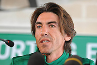 20120214: LISBON, PORTUGAL - Former football player Ricardo Sa Pinto presented as the new coach of Sporting Clube de Portugal Football Team<br />
