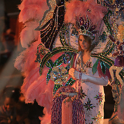 21 February 2009: The Krewe of Endymion parades through the streets of New Orleans, Louisiana on the Saturday night before Mardi Gras.