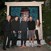 March 1, 2014, Indian Wells, California: <br /> A mural of John McEnroe is unveiled at the Indian Wells Tennis Garden before the McEnroe Challenge for Charity presented by Esurance.<br /> (Photo by Billie Weiss/BNP Paribas Open)