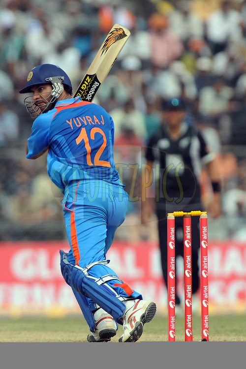 Yuvraj Singh of India bats  during the 1st ODI (One Day International) held at the Nehru Stadium in Guwahati, Assam, India on the 28 th November 2010.Photo by Pal Pillai/BCCI/SPORTZPICS