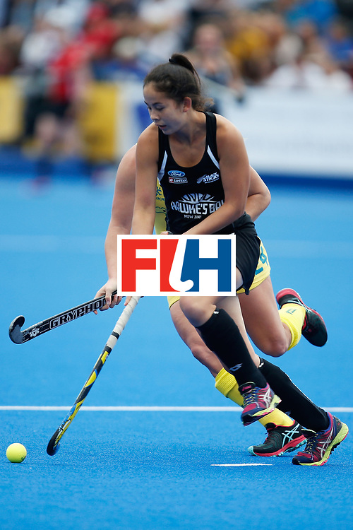 LONDON, ENGLAND - JUNE 19:  Julia King of New Zealand during the FIH Women's Hockey Champions Trophy 2016 match between Australia and New Zealand at Queen Elizabeth Olympic Park on June 19, 2016 in London, England.  (Photo by Joel Ford/Getty Images)