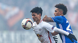 08.12.2016, Red Bull Arena, Salzburg, AUT, UEFA EL, FC Red Bull Salzburg vs Schalke 04, Gruppe I, im Bild Takumi Minamino (FC Red Bull Salzburg), Thilo Kehrer (FC Schalke 04) // Takumi Minamino (FC Red Bull Salzburg), Thilo Kehrer (FC Schalke 04) during the UEFA Europa League group I match between FC Red Bull Salzburg and Schalke 04 at the Red Bull Arena in Salzburg, Austria on 2016/12/08. EXPA Pictures © 2016, PhotoCredit: EXPA/ JFK