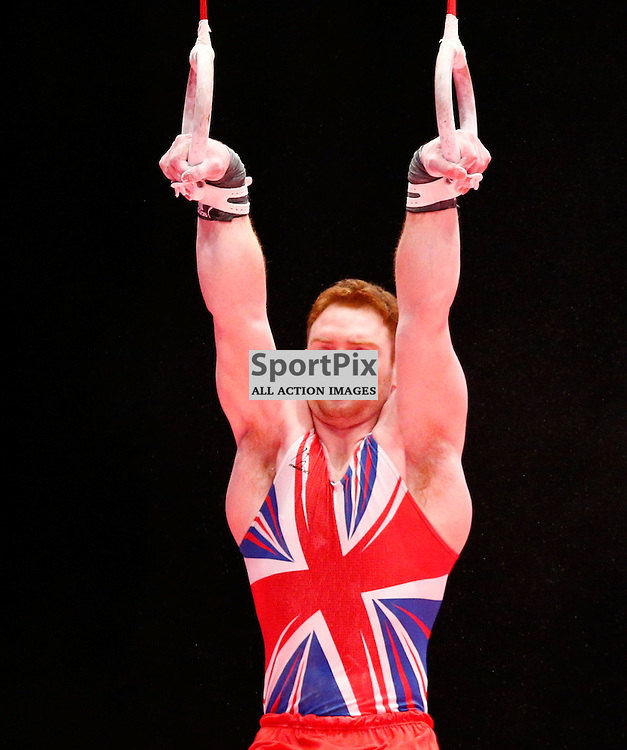 2015 Artistic Gymnastics World Championships being held in Glasgow from 23rd October to 1st November 2015...Daniel Purves (Great Britain) competing in the Still Rings competition..(c) STEPHEN LAWSON   SportPix.org.uk