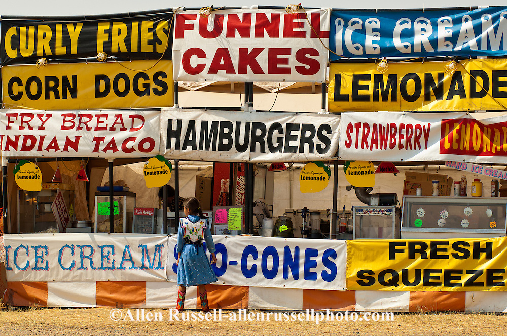 Food Stand, Crow Fair, Crow Indian Reservation, Montana