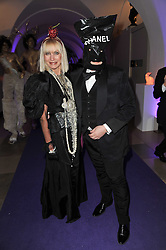 STEPHEN JONES and VIRGINIA BATES at The Surrealist Ball in aid of the NSPCC in association with Harpers Bazaar magazine held at the Banqueting House, Whitehall, London on 17th March 2011.