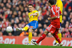 LIVERPOOL, ENGLAND - Saturday, January 26, 2008: Havant and Waterlooville's Phil Warner in action against Liverpool during the FA Cup 4th Round match at Anfield. (Photo by David Rawcliffe/Propaganda)