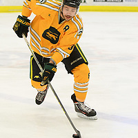 4th year defence man Austin Bourhis (8) of the Regina Cougars in action during the Men's Hockey Home Game on January 20 at Co-operators arena. Credit: Arthur Ward/Arthur Images