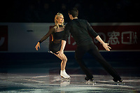 KELOWNA, BC - OCTOBER 24: Pairs competitors Kirsten Moore-Towers and Michael Marinaro perform during the gala of Skate Canada International at Prospera Place on October 24, 2019 in Kelowna, Canada. (Photo by Marissa Baecker/Shoot the Breeze)