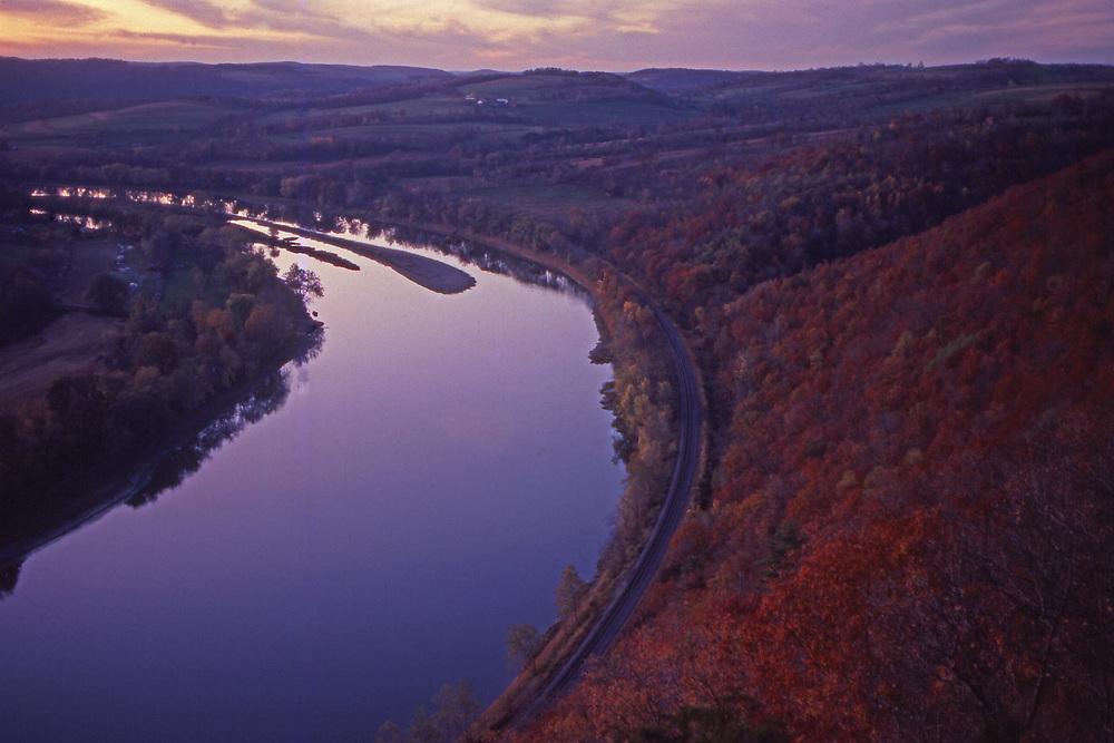 Wyalusing Overlook, Wyalusing Rocks, Susquehanna River, Autumn, Bradford County, Pennsylvania